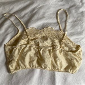 Forever 21 Tops - Cream Boho Lacy Crop/Bralette